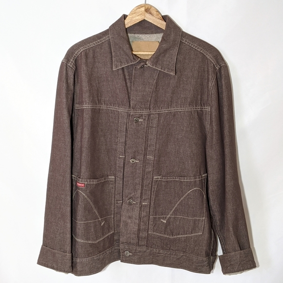 Guess Other - Guess Brown Retro Jean Denim Jacket